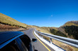 A road trip is the best way to explore New Zealand. There are blue sky, beautiful roads and landscape to be enjoyed. This was shot outside the car windows. Driving is the best way to tour the country.