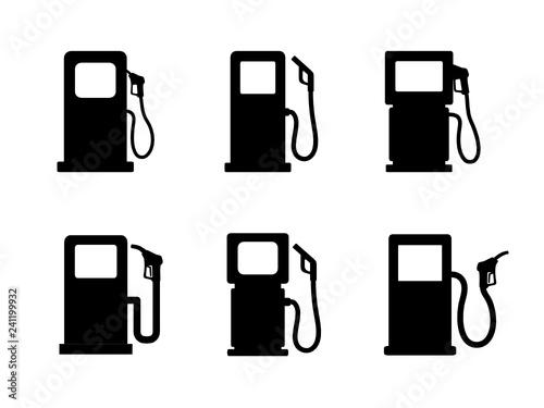 Fototapeta dystrybutor paliwa zestaw ikon