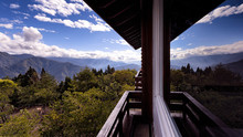 Beautiful Nature Landscape View From Holiday Accommodation House Architecture Window Balcony