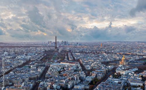 Papiers peints Paris Paris skyline in the evening