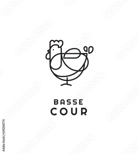 Photo Poule, cocotte, dessin, graphique, marque, design, motif, trait, logo