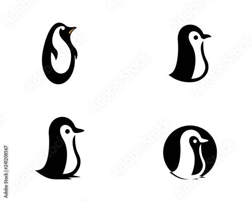 Fototapeta premium logo pingwina wektor ikona ilustracja projekt