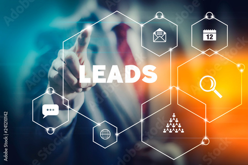 Mordern marketing concept and tools for important lead generation in digital networks Wallpaper Mural