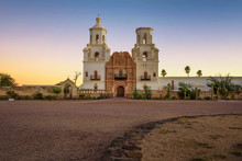 Sunrise At The San Xavier Miss...