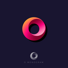 O Letter. O Monogram Consist Like Vortex. Web, UI Icon.