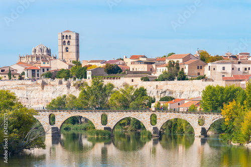 panoramic view of zamora city, Spain