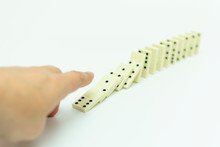 Knuckles Of Dominoes Falling O...