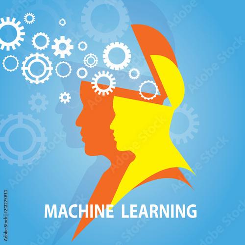 Machine Learning Business Technology Concept Tableau sur Toile