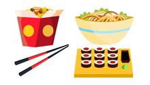 Takeaway Chinese Food Vector. ...