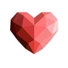 Heart In Low Poly Style.Heart ...