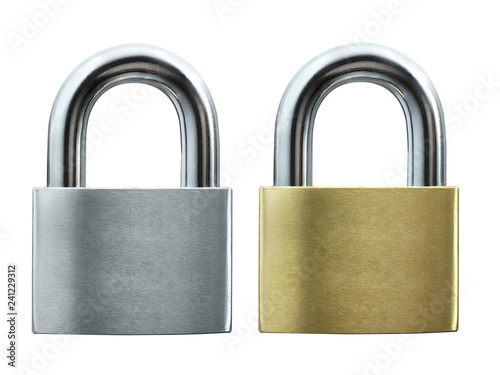 Cuadros en Lienzo  Lock on white background