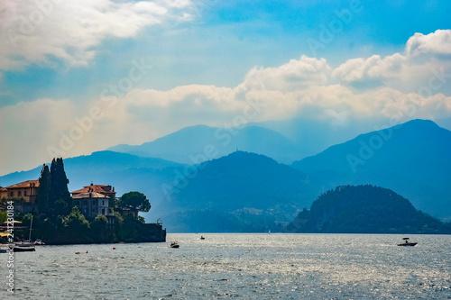 Canvas Prints Camping Lake Como, Italy