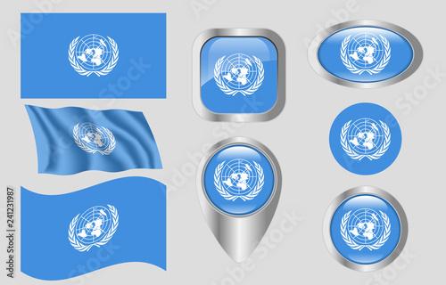 Fotografie, Obraz  Flag of the United Nations