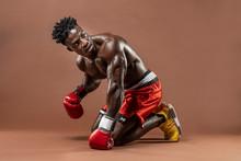 Muscular African American Blac...