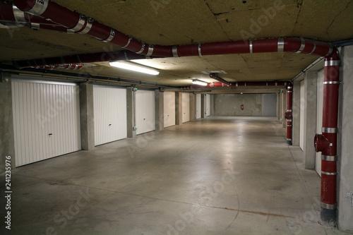 Foto op Canvas Stadion underground garage parking