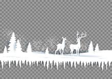 Winter Paper Landscape