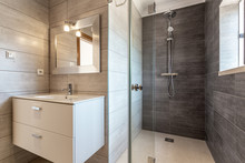 Modern Bathroom With Shower An...