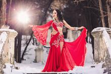 Beautiful Young Girl Dancing B...