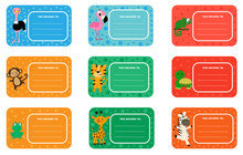 Back To School Labels With Cut...