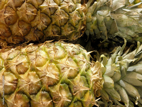 Fototapety, obrazy: Close-up of Yummy Pineapples for sale