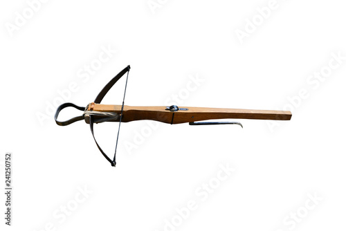 Tableau sur Toile wooden crossbow isolated