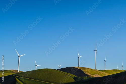 Fotografie, Obraz  wind turbines on the hills