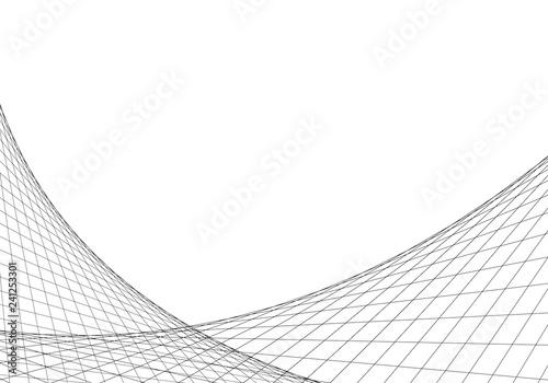Obraz abstract lines net network vector strange shapes full editable stroke - fototapety do salonu