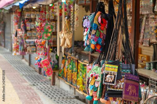 Spoed Foto op Canvas Graffiti collage traditional Thai souvenirs