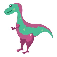 Funny illustration of a dinosaur
