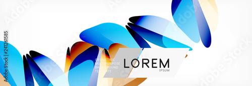 Triangle 3d polygonal art style. Future geometric design. Vector geometry futuristic illustration