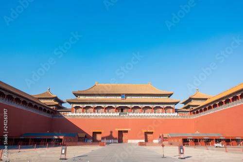 In de dag Beijing BEIJING, CHINA - DECEMBER 24, 2018: Forbidden City in Beijing