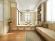 Leinwandbild Motiv 3d rendering japanese style living room