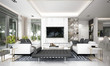 Leinwanddruck Bild Modern luxury living room interior design