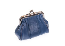 Blue Leather Coin Purse Isolat...
