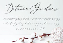 Botanic Gardens Script Font Al...