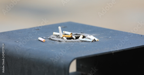 Valokuva  cigarette butts in an ashtray