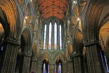 Glasgow Cathedral Interior, Glasgow, UK.