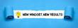 Leinwandbild Motiv New Mindset, New Results