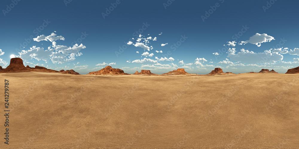 Fototapety, obrazy: 360 Grad Panorama mit einer Wüstenlandschaft