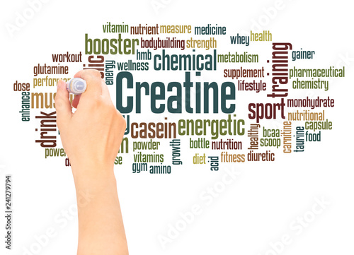 Fotografia  Creatine word cloud hand writing concept