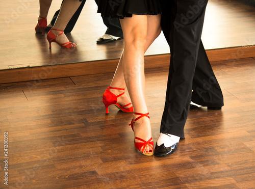 Photo  Ballroom dance salsa dancers