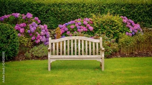 Foto auf Leinwand Garten Garden Bench