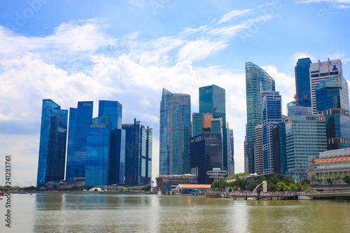Photo  マリーナベイのビル群(シンガポール)
