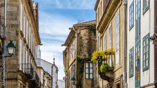 Leinwand Poster Architecture in Santiago de Compostela, Spain