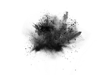 particles of charcoal on wh...