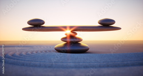 Canvas Print Balance - Mediation - Ruhe