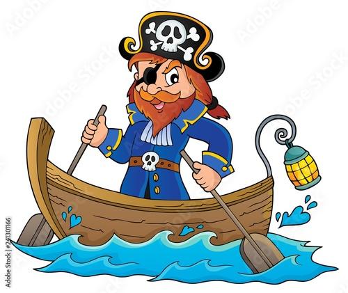 Keuken foto achterwand Voor kinderen Pirate in boat topic image 1