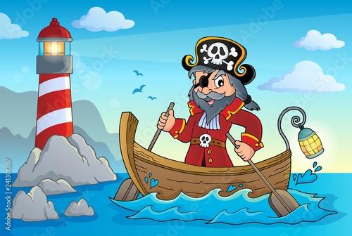 Keuken foto achterwand Voor kinderen Pirate in boat topic image 4