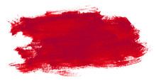 Red Paint Stain On Hand-drawn Paper