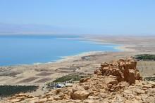 Ein Gedi, Waterfall And Oasis In Judean Desert, View Of Dead Sea, ISRAEL